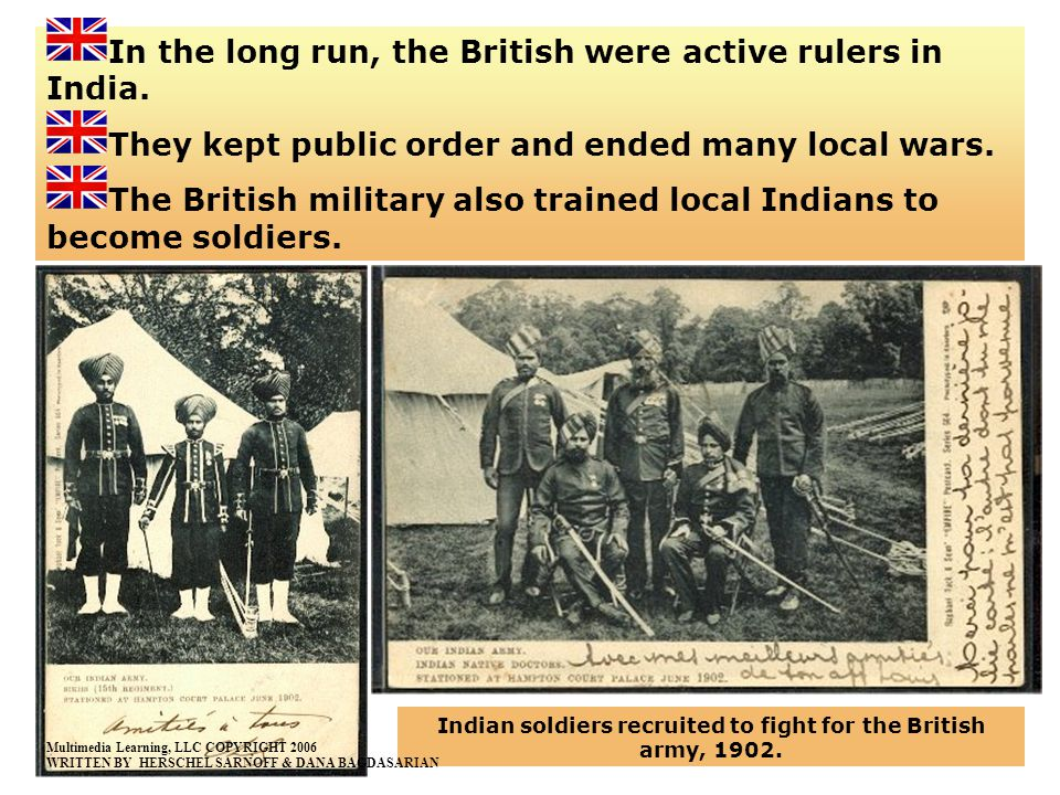 Indian soldiers recruited to fight for the British army, 1902.