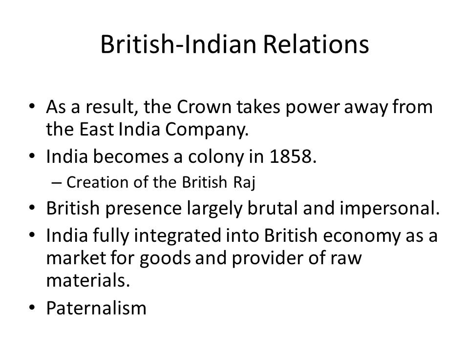 British-Indian Relations