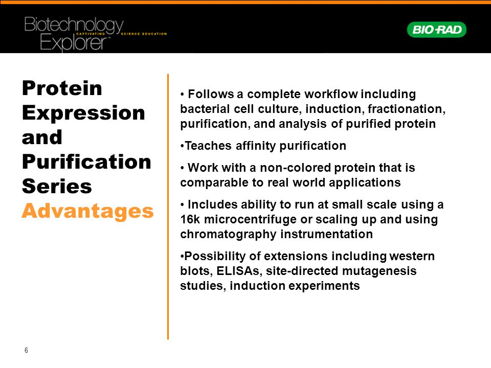 Protein Expression and Purification Series Advantages