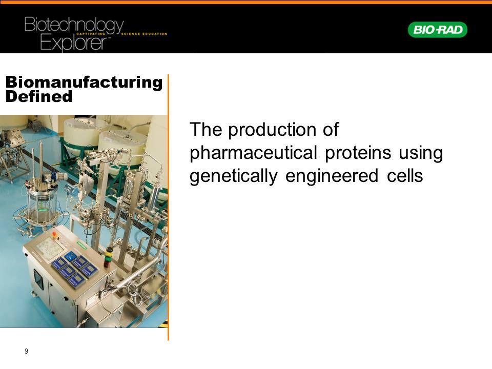 Biomanufacturing Defined