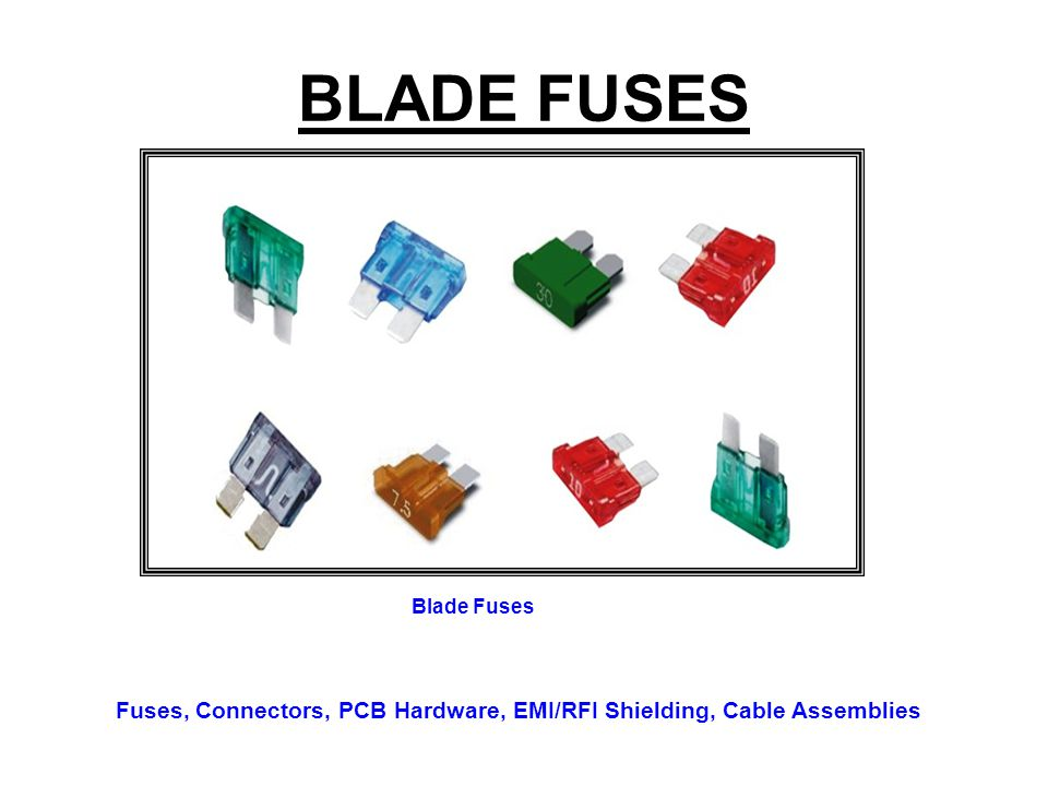 BLADE FUSES Blade Fuses