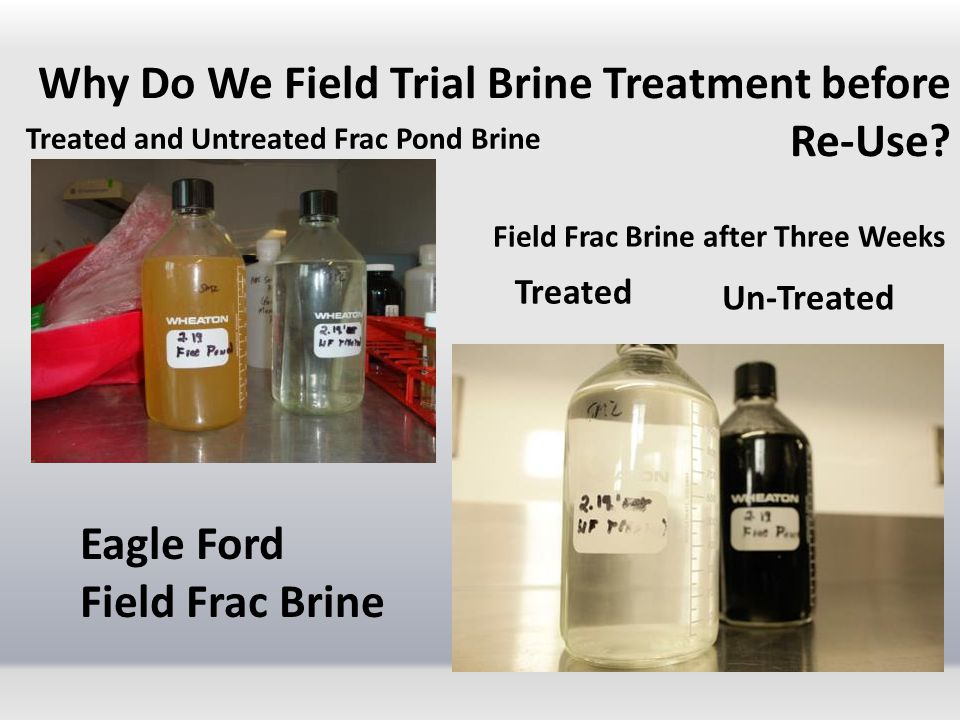 Why Do We Field Trial Brine Treatment before Re-Use