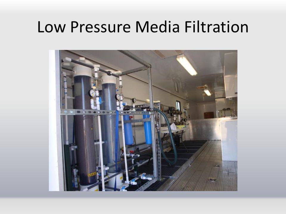 Low Pressure Media Filtration