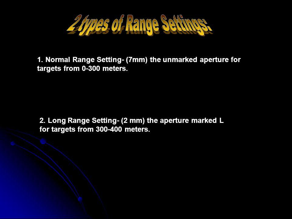 2 types of Range Settings: