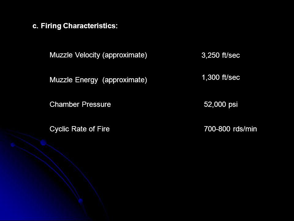 c. Firing Characteristics: