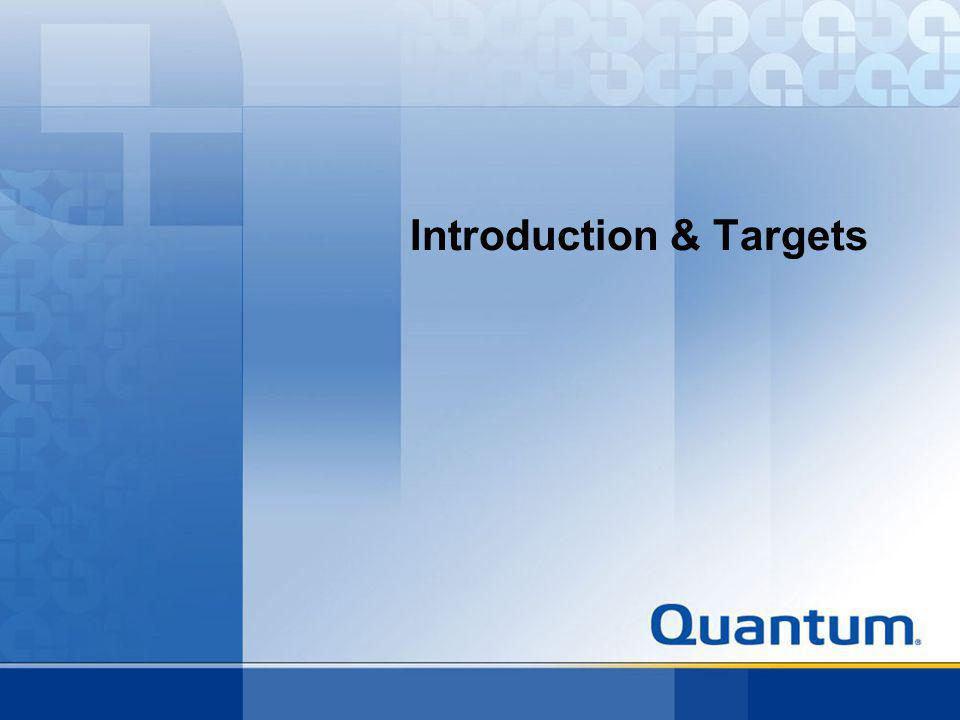 Introduction & Targets