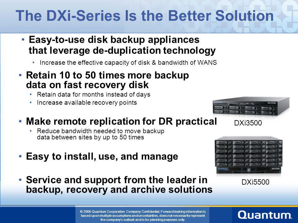 The DXi-Series Is the Better Solution