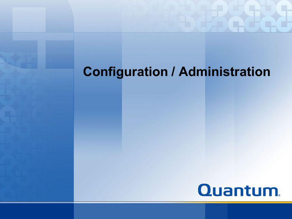 Configuration / Administration