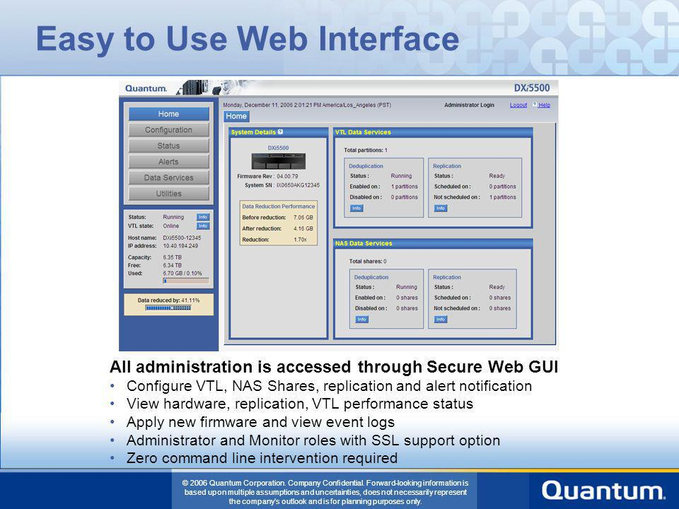 Easy to Use Web Interface