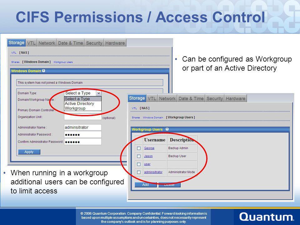 CIFS Permissions / Access Control