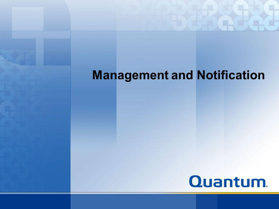 Management and Notification