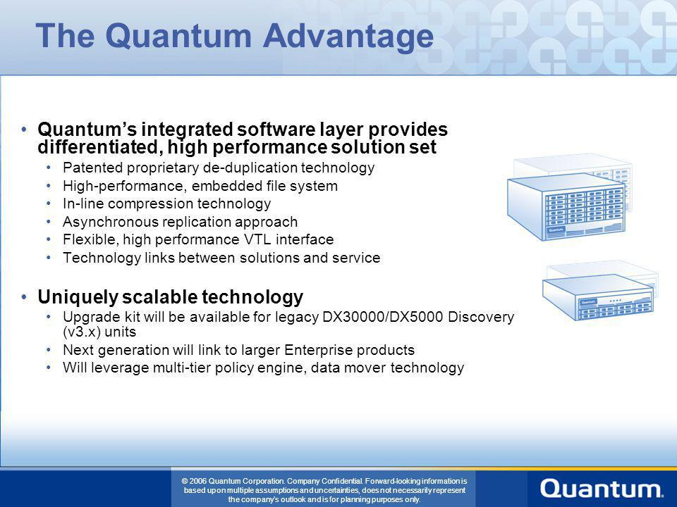 The Quantum Advantage Quantum's integrated software layer provides differentiated, high performance solution set.