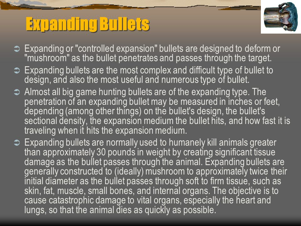 Expanding Bullets