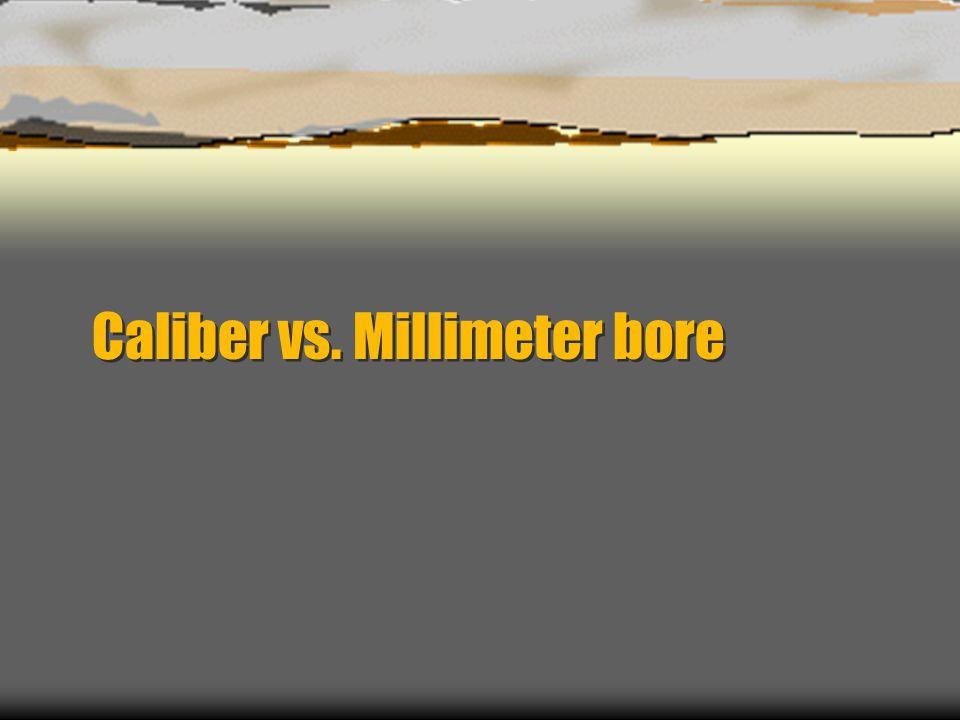 Caliber vs. Millimeter bore