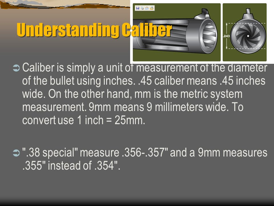 Understanding Caliber