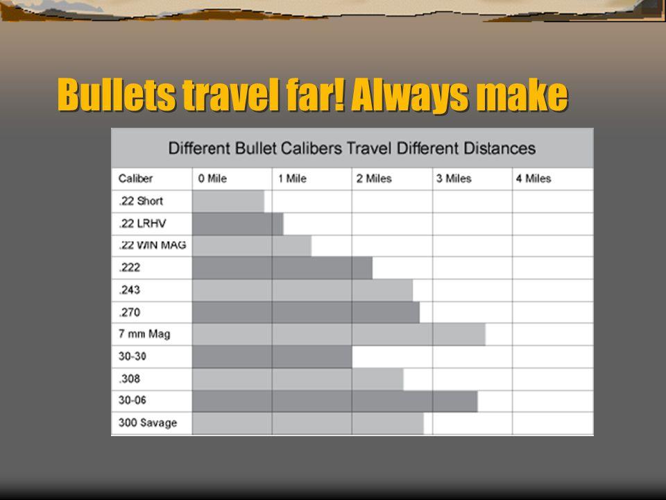 Bullets travel far! Always make