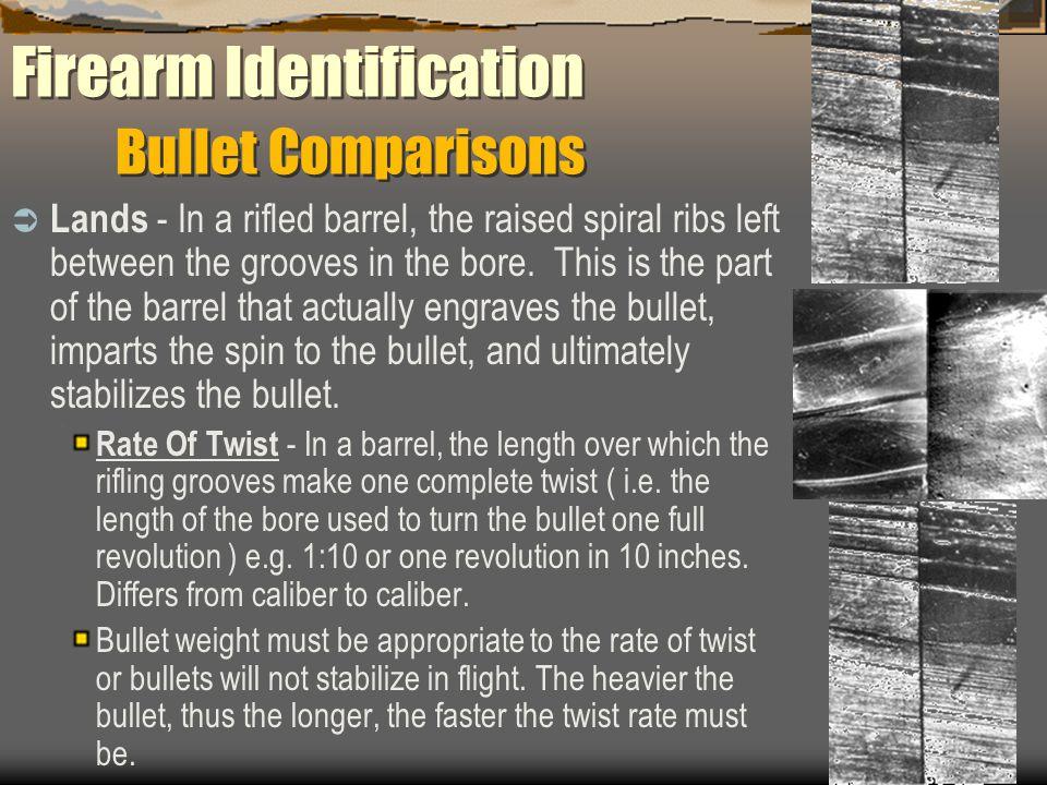 Firearm Identification Bullet Comparisons