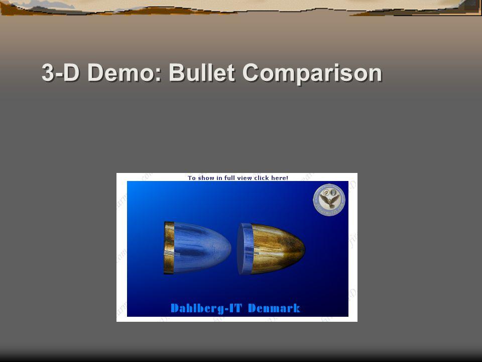 3-D Demo: Bullet Comparison