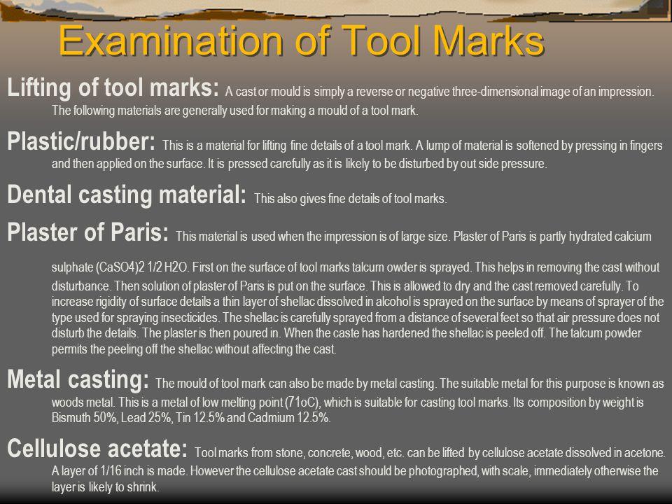 Examination of Tool Marks