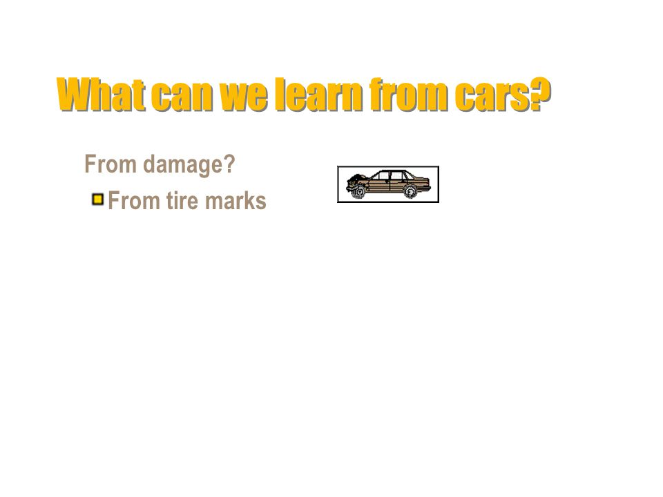 What can we learn from cars