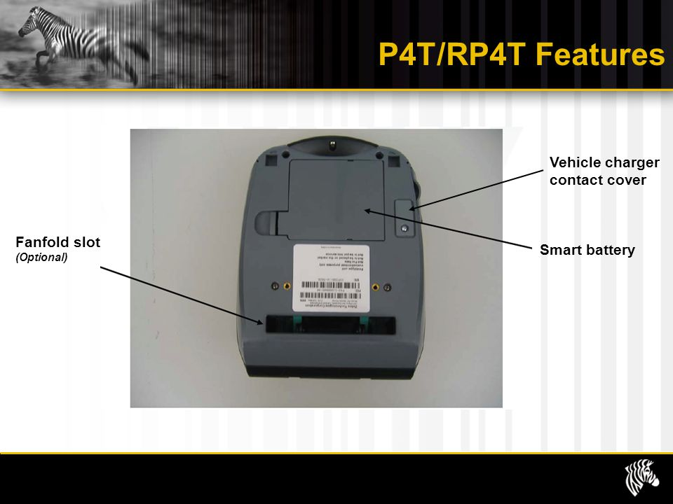 P4T/RP4T Features Vehicle charger contact cover