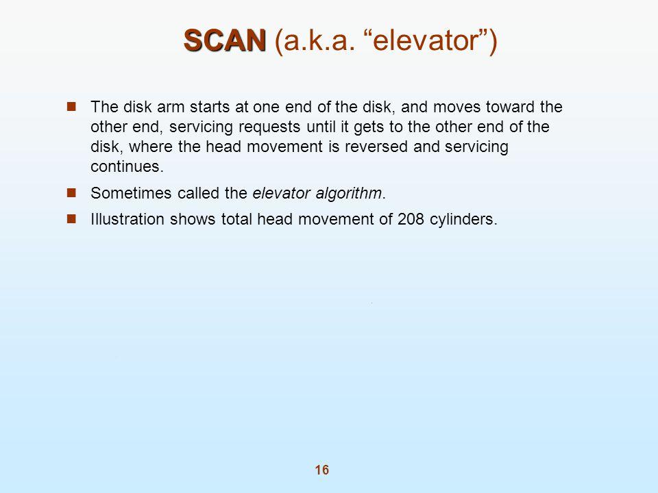 SCAN (a.k.a. elevator )