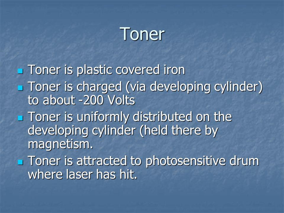 Toner Toner is plastic covered iron