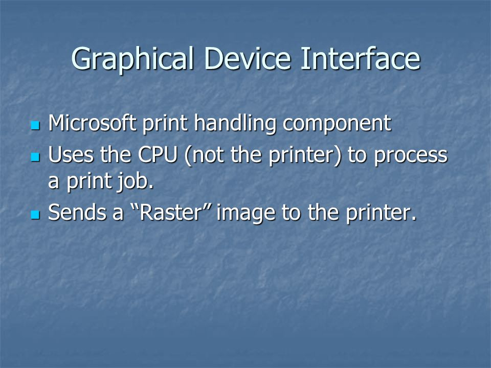 Graphical Device Interface