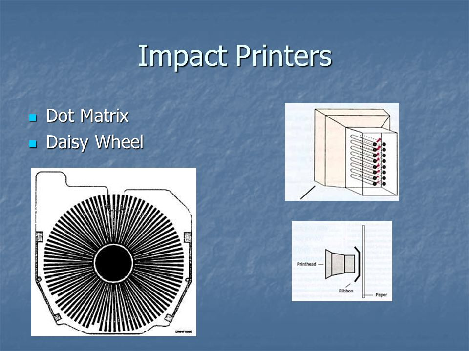 Impact Printers Dot Matrix Daisy Wheel