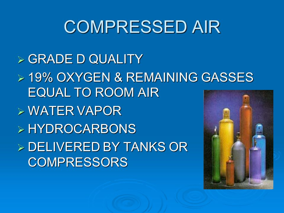 COMPRESSED AIR GRADE D QUALITY
