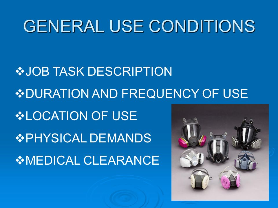 GENERAL USE CONDITIONS