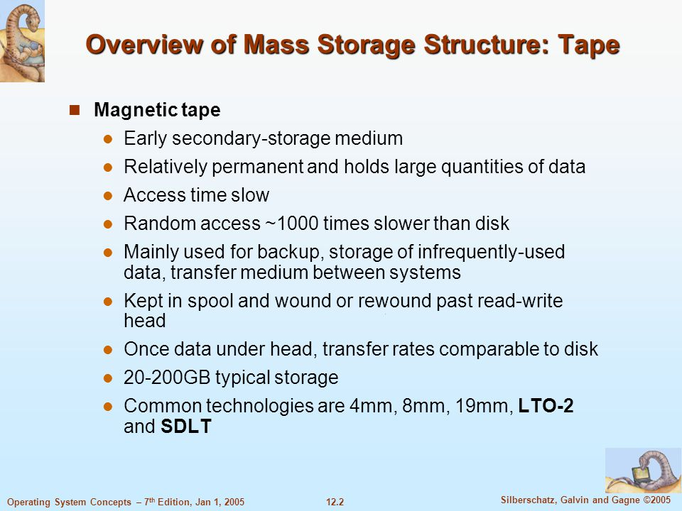 Overview of Mass Storage Structure: Tape