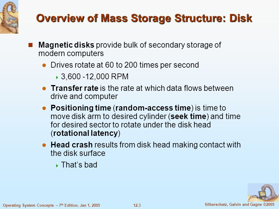 Overview of Mass Storage Structure: Disk