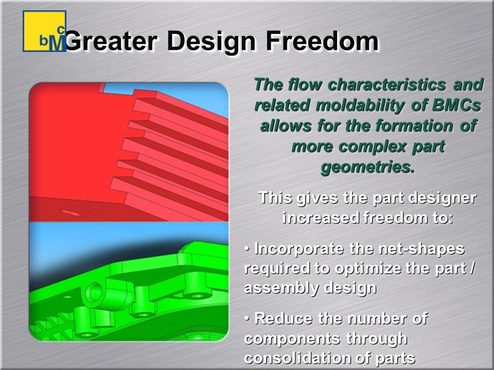 Greater Design Freedom