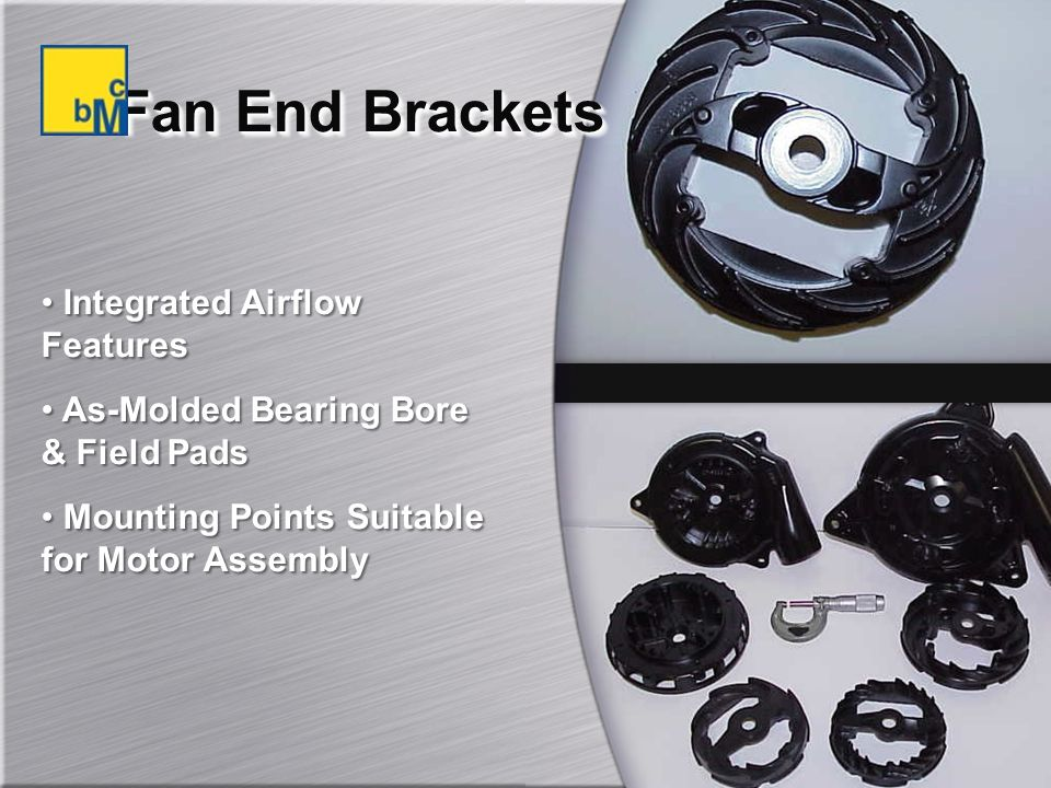 Fan End Brackets Integrated Airflow Features