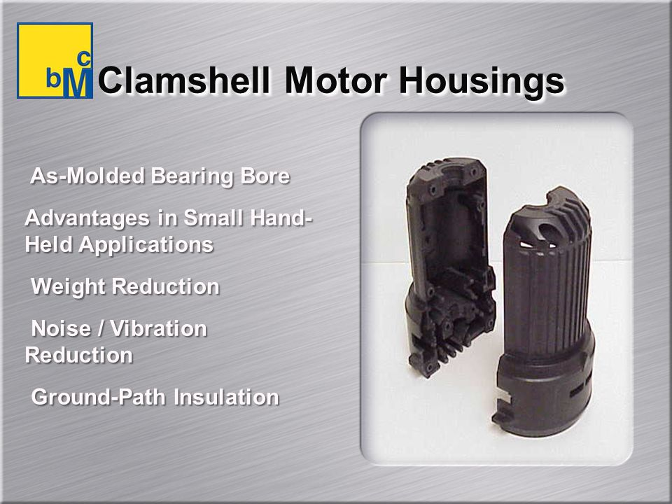 Clamshell Motor Housings