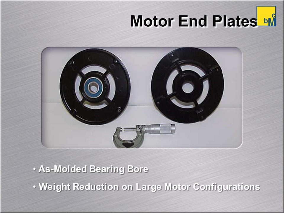 Motor End Plates As-Molded Bearing Bore