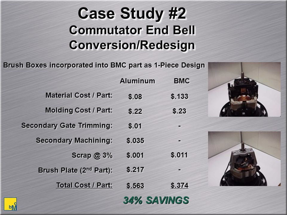 Case Study #2 Commutator End Bell Conversion/Redesign