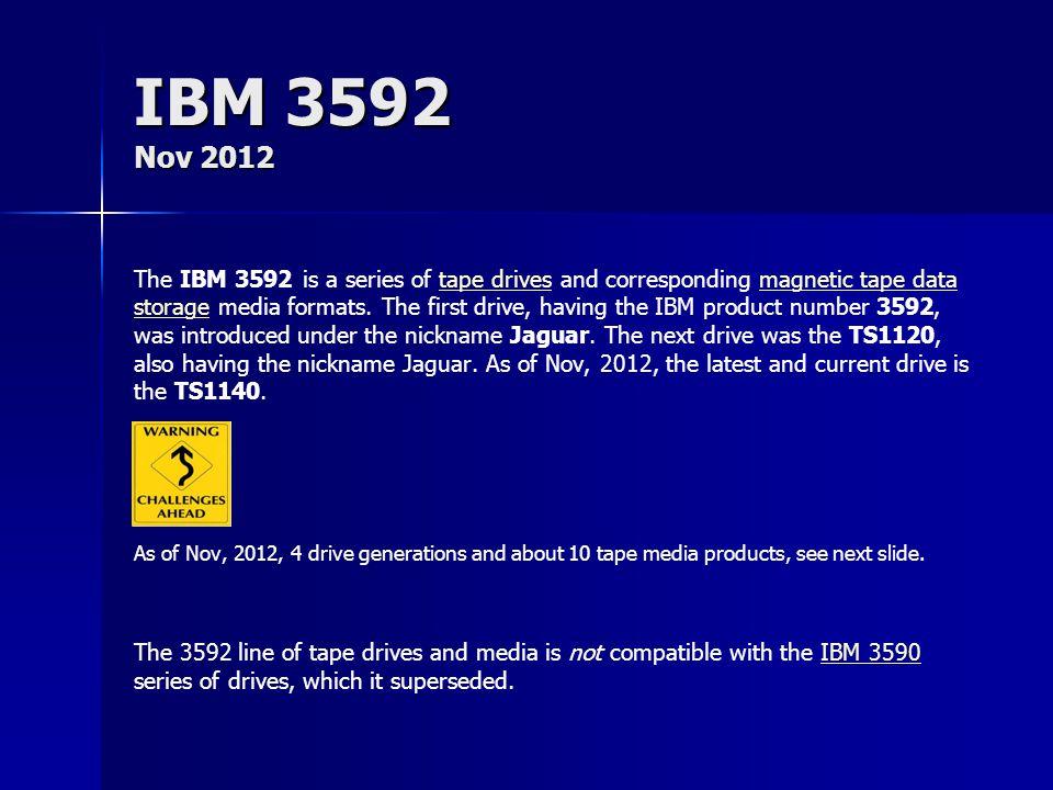 IBM 3592 Nov 2012