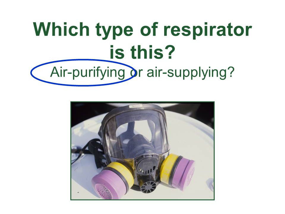 Which type of respirator is this Air-purifying or air-supplying