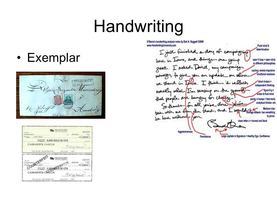 Handwriting Exemplar