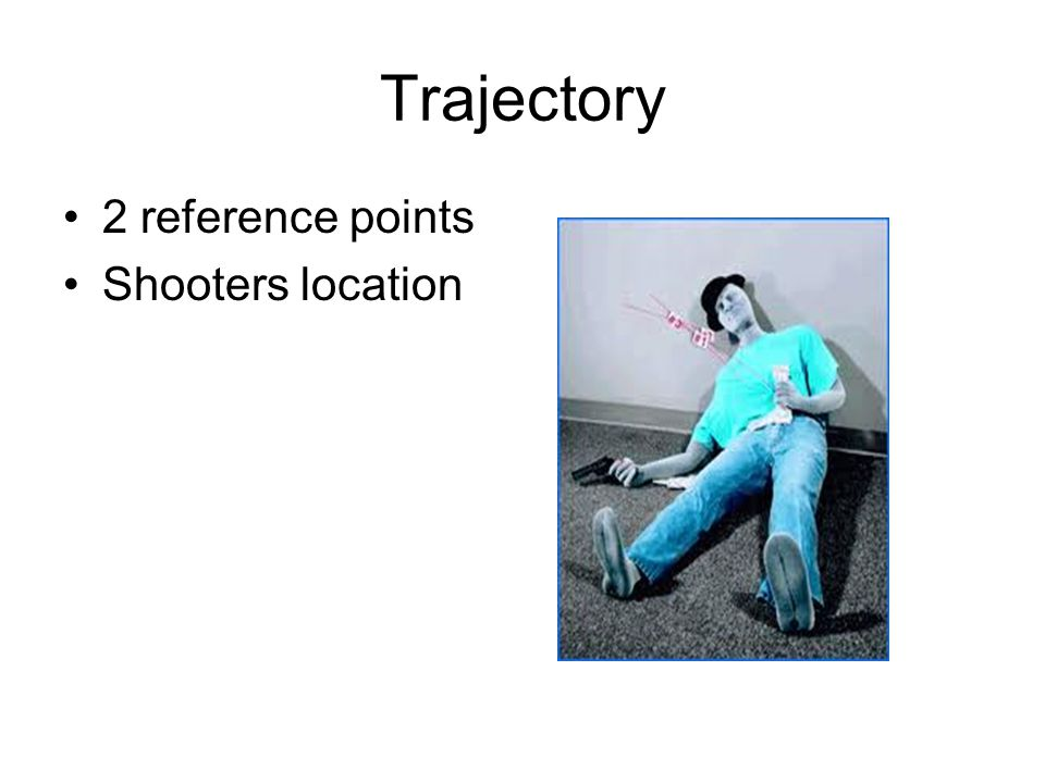 Trajectory 2 reference points Shooters location