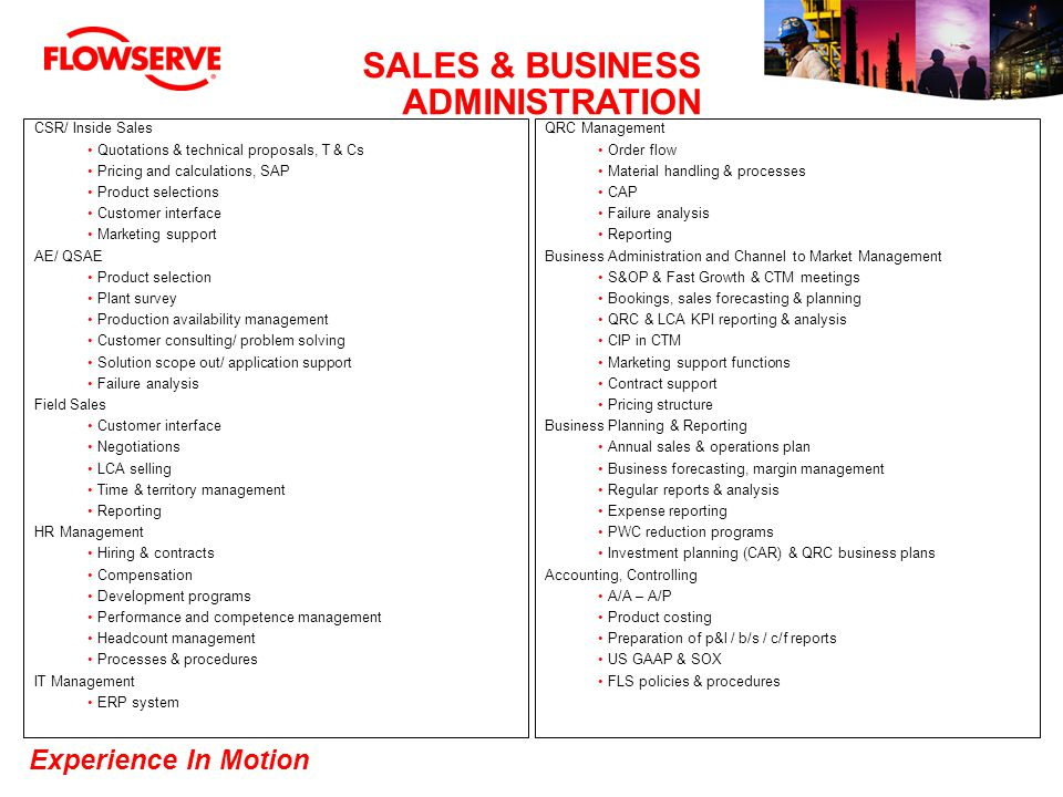 SALES & BUSINESS ADMINISTRATION