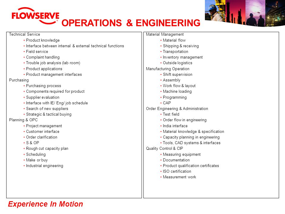 OPERATIONS & ENGINEERING