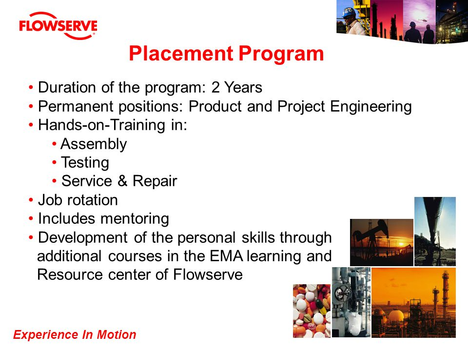 Placement Program Duration of the program: 2 Years