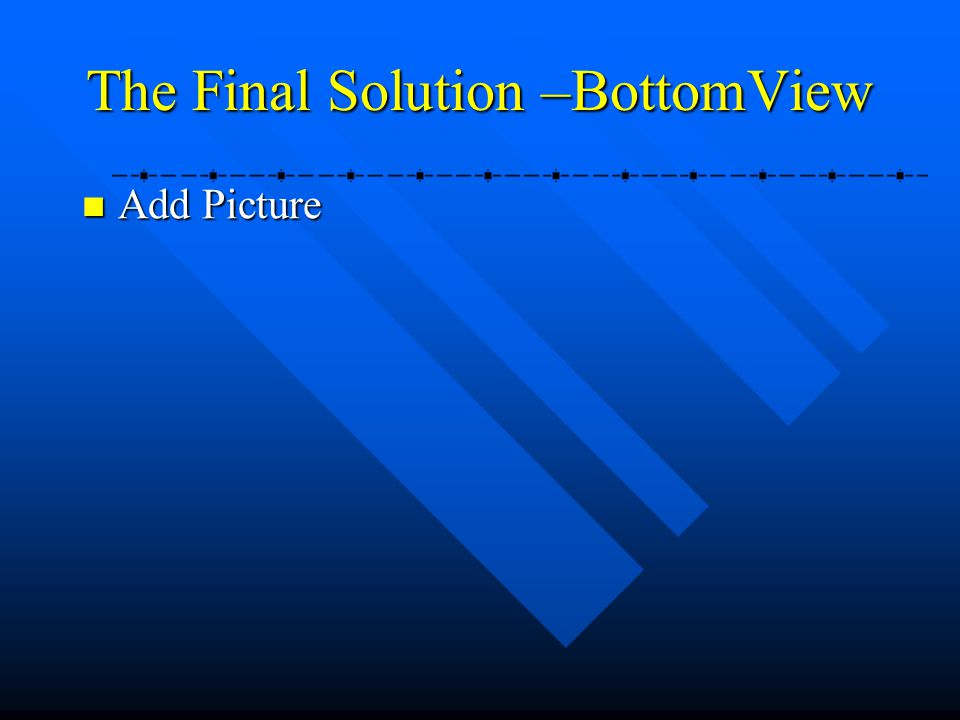 The Final Solution –BottomView