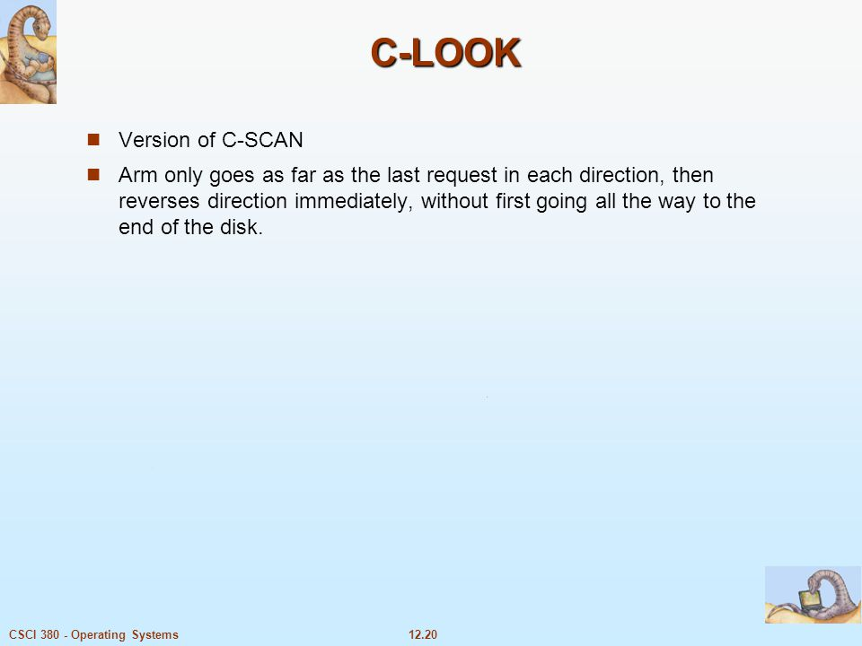 C-LOOK Version of C-SCAN