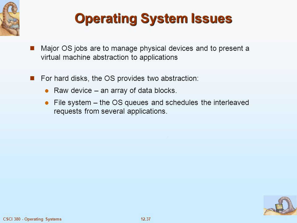 Operating System Issues
