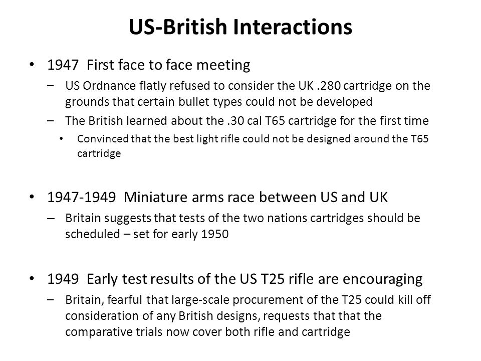 US-British Interactions