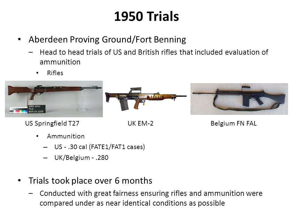 1950 Trials Aberdeen Proving Ground/Fort Benning